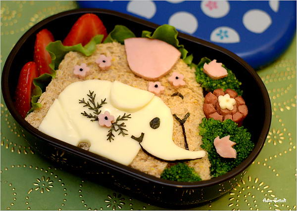 33 elephant bento box lunch