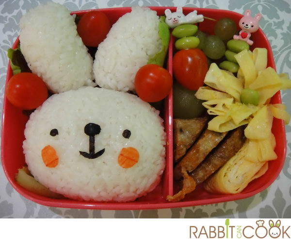 37 rabbit bento box lunch