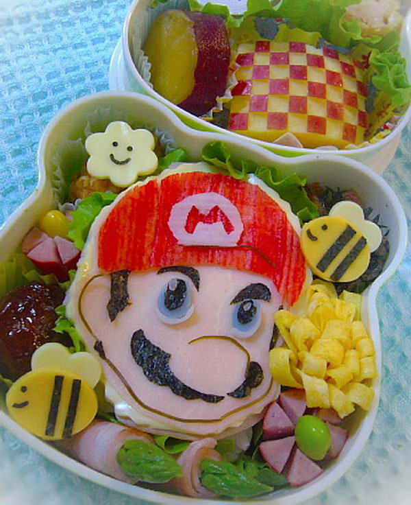 4 super mario lunch box