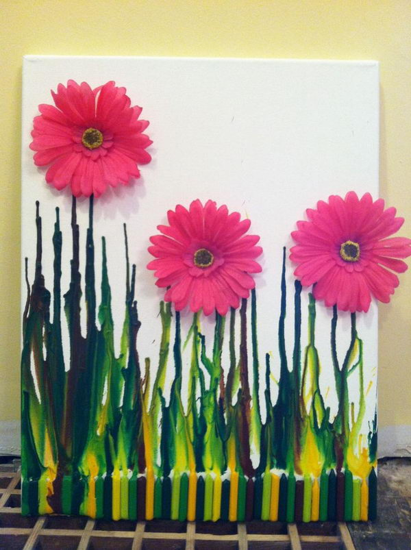 30 Cool Melted Crayon Art Ideas Sponge Kids
