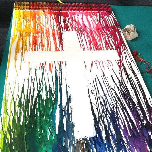 27-melted-crayon-art-cross