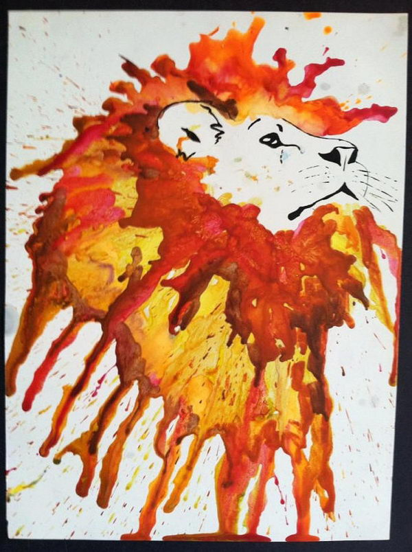 30 Cool Melted Crayon Art Ideas