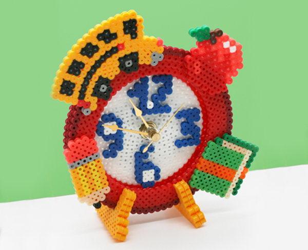 12 clock perler bead