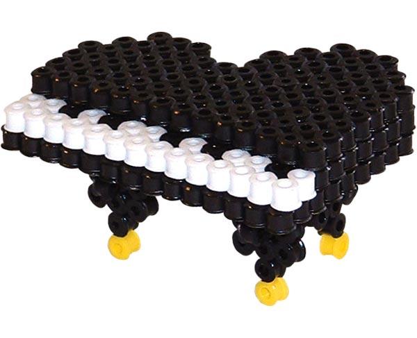 20 3d piano perler beads