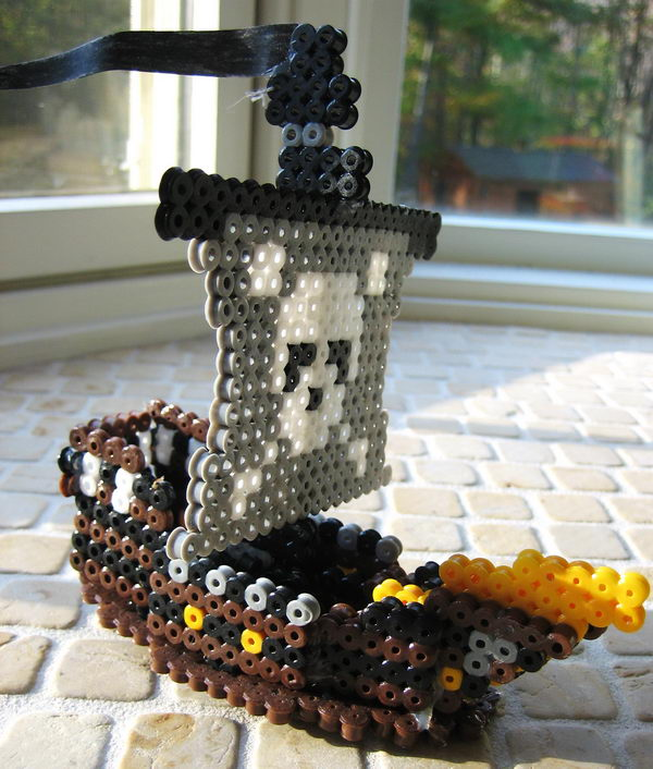 28 3d perler bead pirate ship