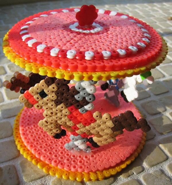 30 3d perler bead carousel