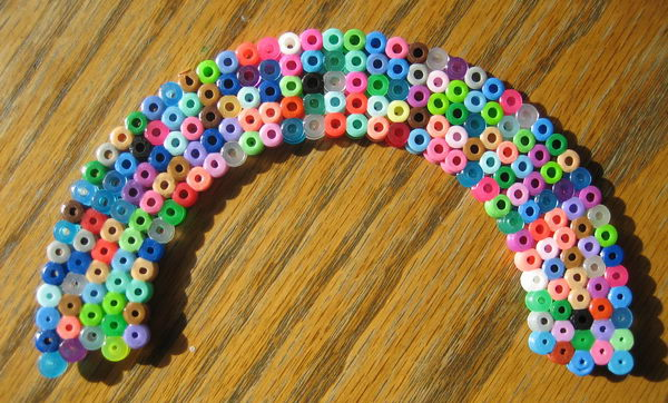 38 rainbow perler beads