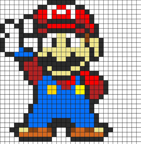 1 mario perler beads patterns