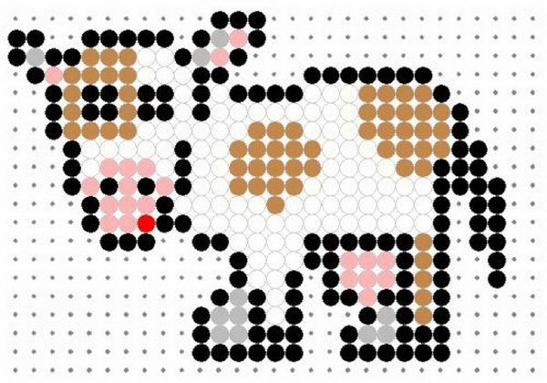 16 cow perler beads patterns