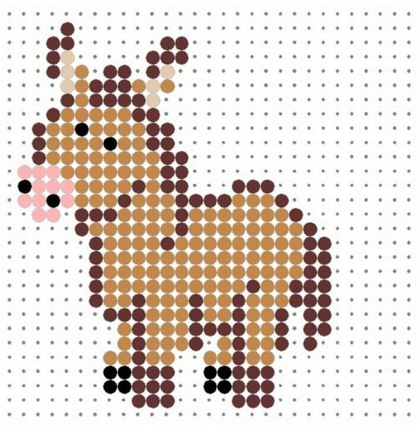 18 donkey perler beads patterns