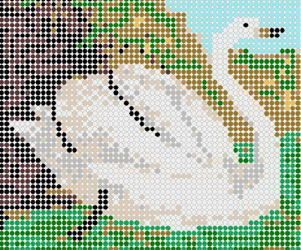 24 swan perler beads patterns