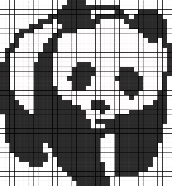 26 panda perler beads patterns