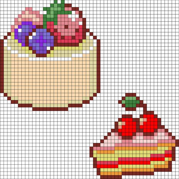 32 round cake and cherry cake