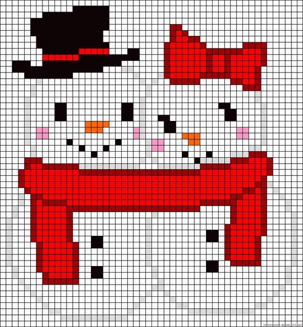 34 snowman couple