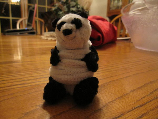 11 pipe cleaner panda
