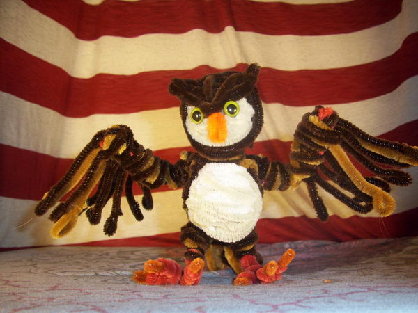 20-pipe-cleaner-owl