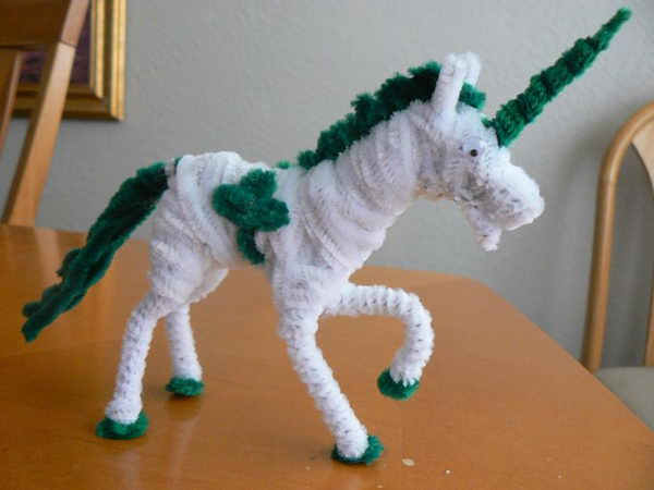 43 pipe cleaner unicorn