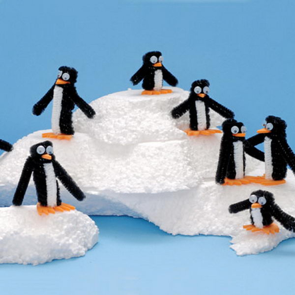 44 pipe cleaner penguins