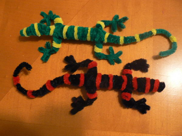 45 pipe cleaner geckoes