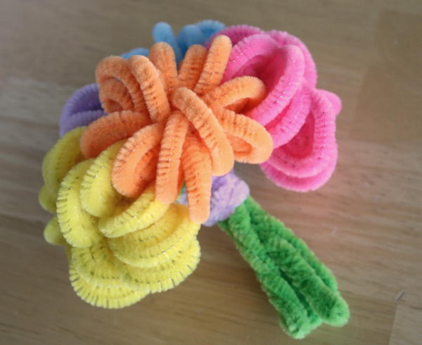15 bouquet pip cleaner crafts