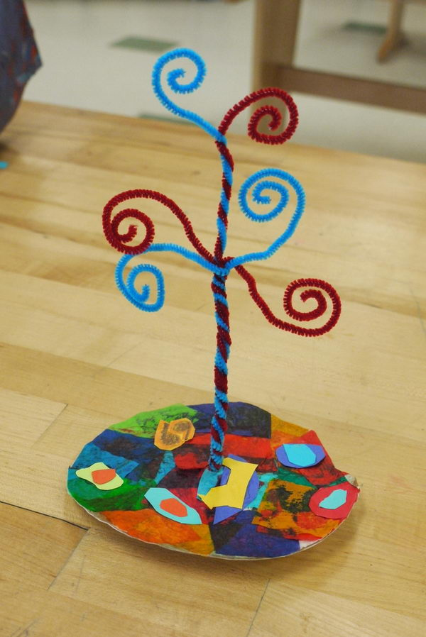 28 pipe cleaner tree