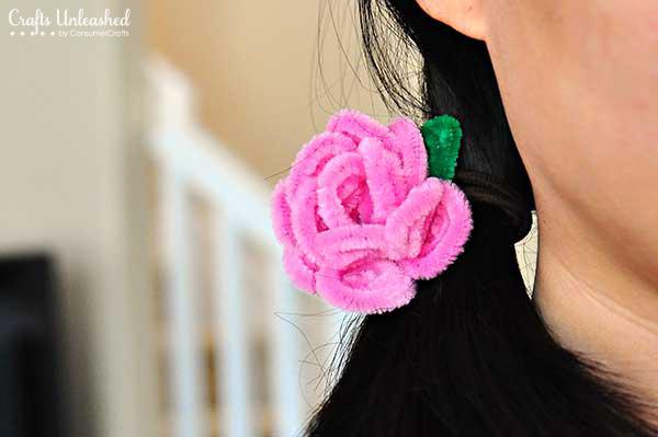 7-diy-pipe-cleaner-rose-hair-ties