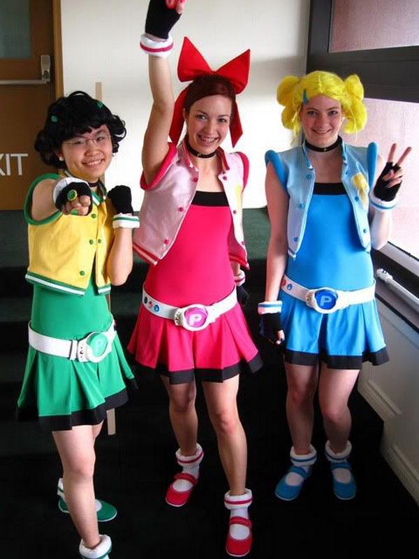 11 powerpuff girls homemade costume and makeup