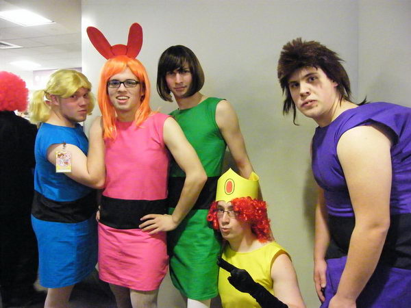 3 funny power puff cosplay