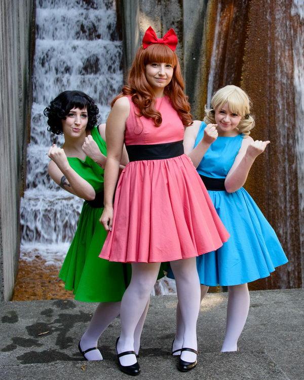 6 powerpuff girls costumes diy tutorial