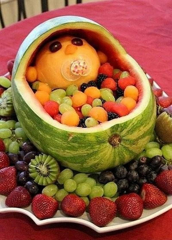 Baby in Crib Edible Arrangment,