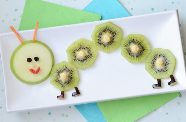 Fruity Caterpillar Snack Edible Arrangment For Kids,