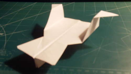 Charger Paper Airplane. A stunt plane flying fast and far, the Charger is a quite impressive dart paper airplane.