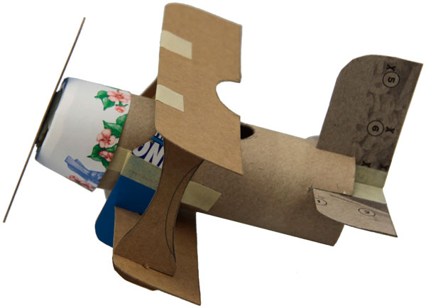 Toilet Paper Roll Biplane,