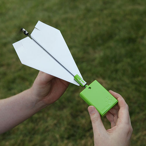 Electric Paper Airplane. With a little experimentation and creativity, kids will be both the mechanic and pilot of their own creations that really fly for up to 30 seconds.