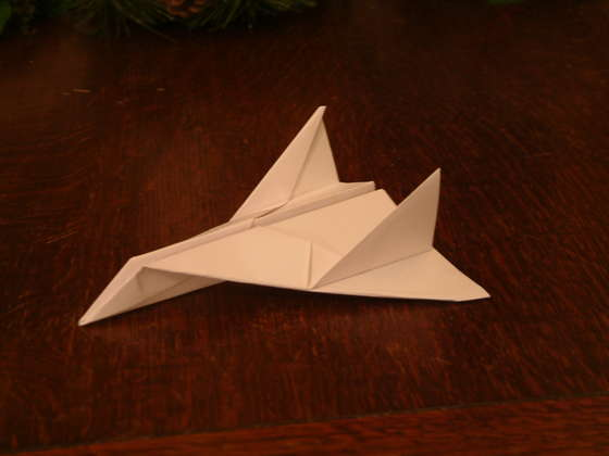 Thunder Bomber. This is one of the very best of paper aeroplanes, it is extremely stable in flight and glides excellently. It is fairly easy to make with no complex folds and no cutting needed.