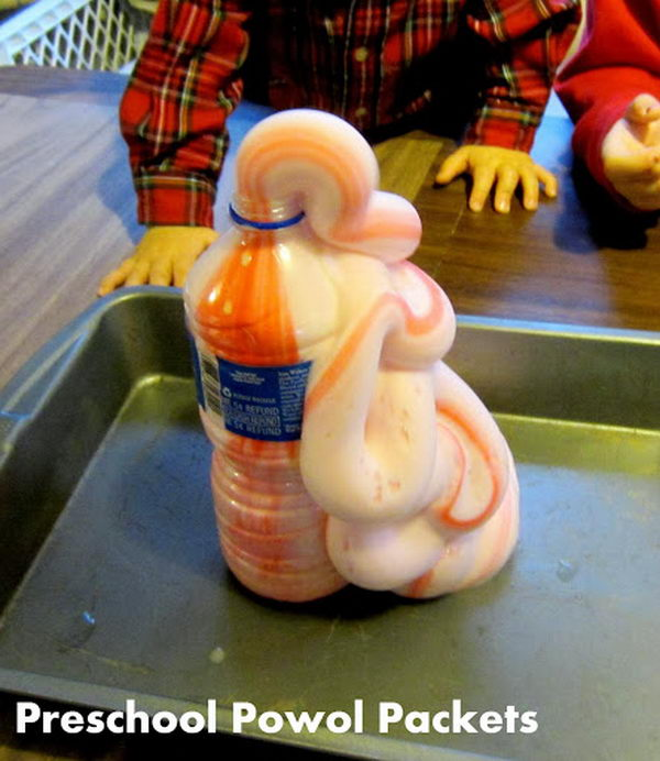 Elephant Toothpaste Science Project for Kids. Hydrogen peroxide naturally breaks down into water and oxygen. Dish soap catches the oxygen and makes bigger bubbles and the food coloring makes it look cool.