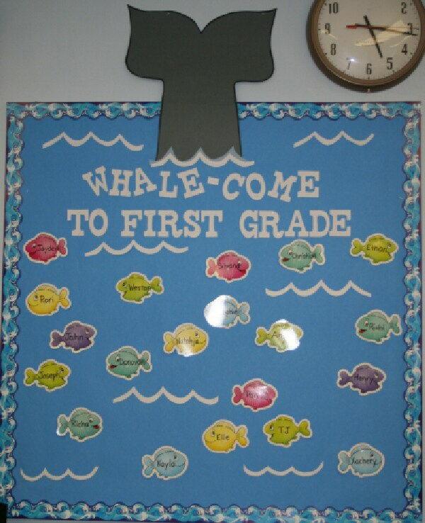 Whale Come Bulletin Board.