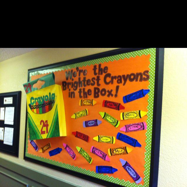 Crayon Bulletin Board.