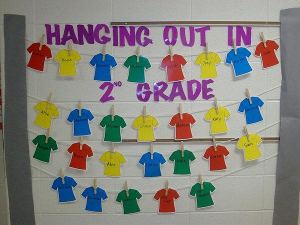 Hanging T-shirt Bulletin Board.