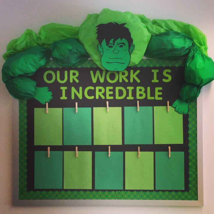 Superhero Classroom Bulletin Board.