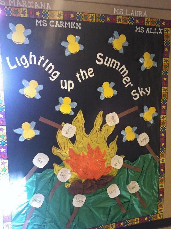Lightning Bug Jar Bulletin Board.