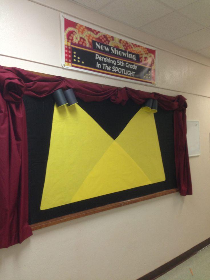 Spotlight Work On Stage Bulletin Board.