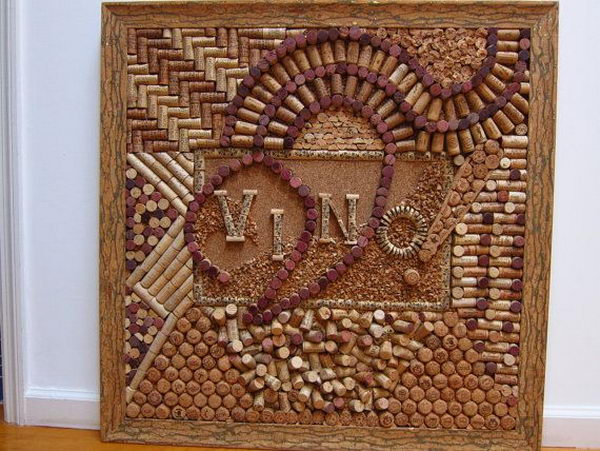 DIY Wine Cork Board.