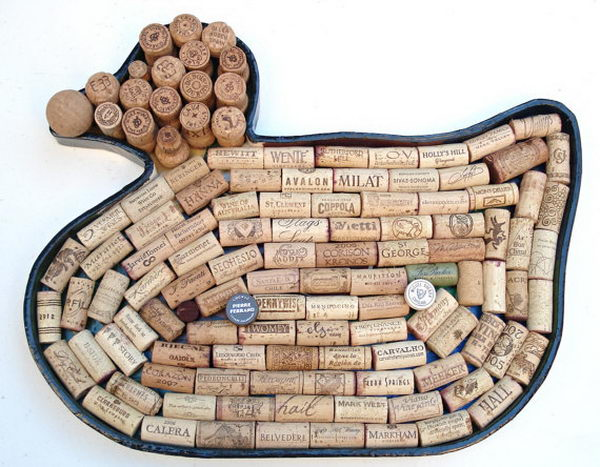 Duck Wine Cork Board.