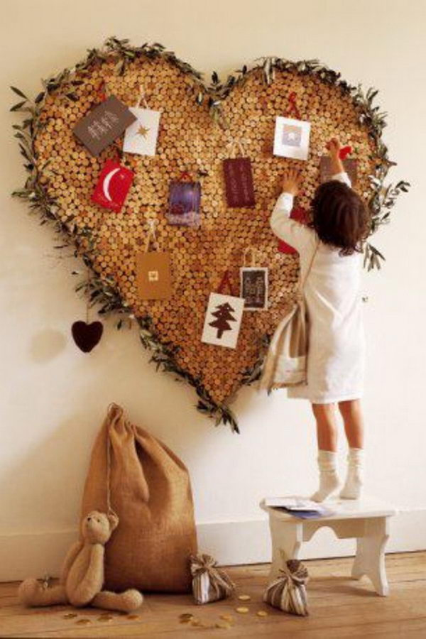Heart Shape Wine Cork Board.