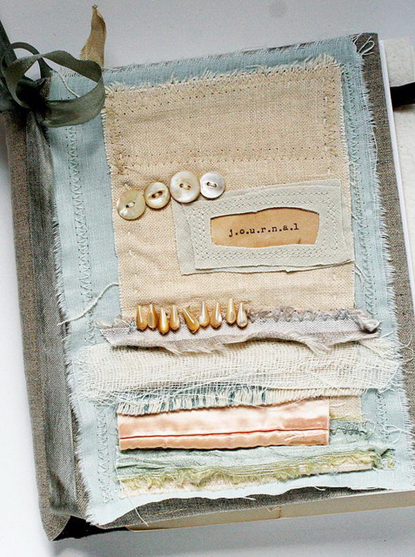 Fabric Book Cover Material ~ Creative diy book cover ideas