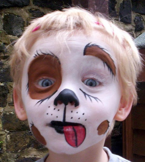 Puppy Dog Face Paint. Cool Face Painting Ideas For Kids, which transform the faces of little ones without requiring professional-quality painting skills.