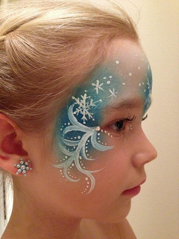 Elsa Face Paint. Cool Face Painting Ideas For Kids, which transform the faces of little ones without requiring professional-quality painting skills.