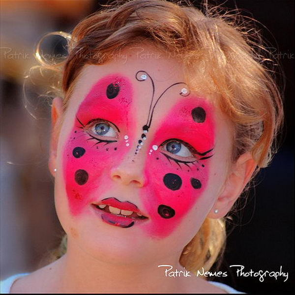 Butterfly. Cool Face Painting Ideas For Kids, which transform the faces of little ones without requiring professional-quality painting skills.