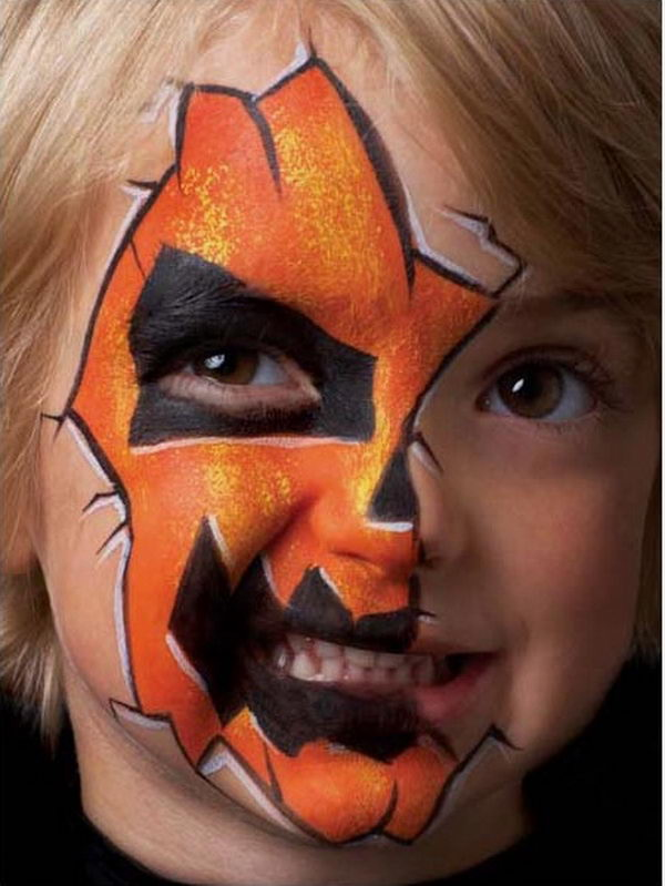 Halloween Face Painting. Cool Face Painting Ideas For Kids, which transform the faces of little ones without requiring professional-quality painting skills.